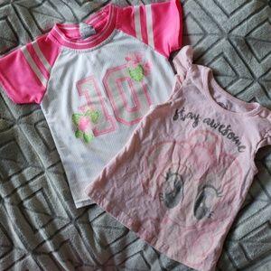 Set of 2 girls 4T shirts